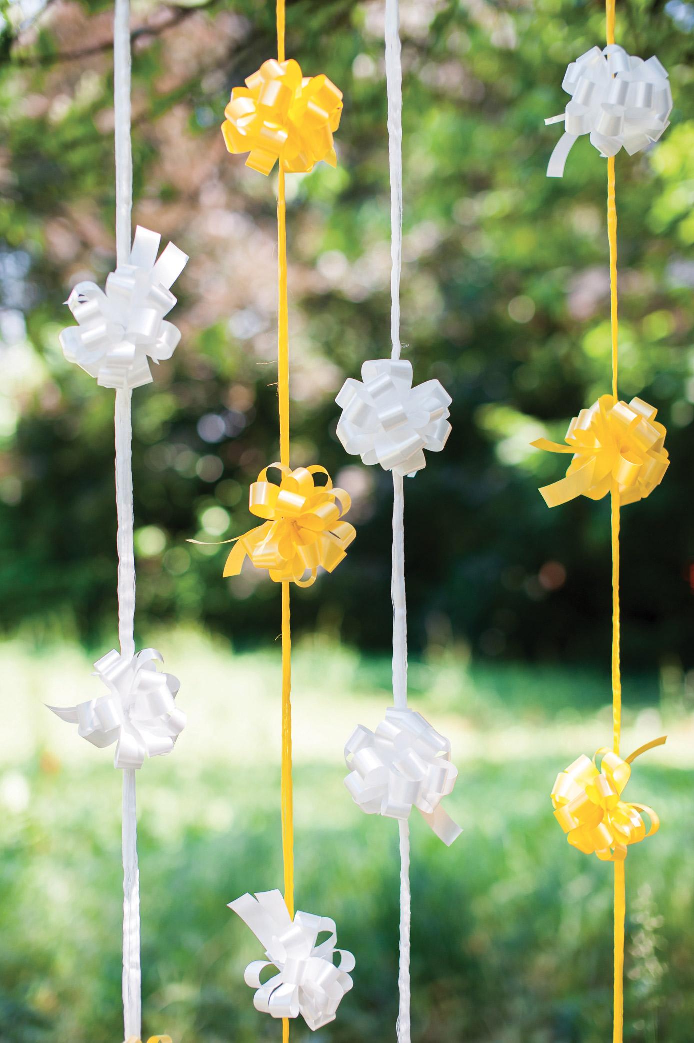 Matrimonio In Giallo E Bianco : Matrimonio in giallo nastri brizzolari