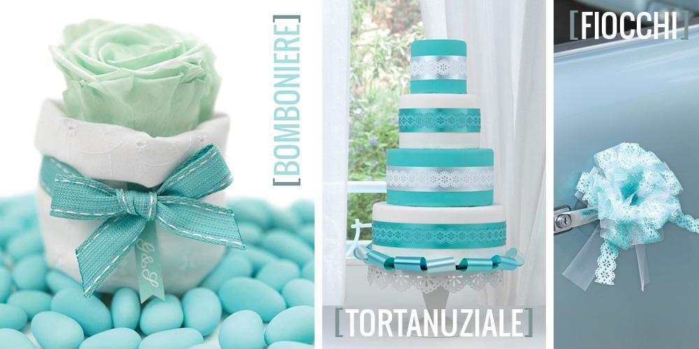 abbastanza Un matrimonio in Blue Tiffany - Nastri Brizzolari LZ41
