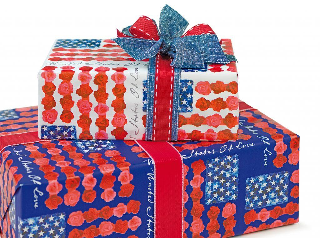 Pacchettino regalo in stile USA