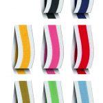 Nastri colorati in tessuto per pacchetto icone app