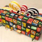 Pacchetto regalo con icone app