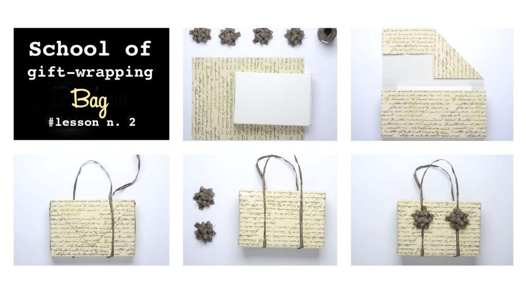 Tutorial pacchetto regalo a forma di borsetta